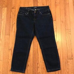 Ann Taylor Loft Curvy Cropped Jeans